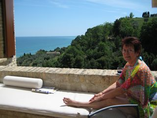 Italy 2007 Mom Terrace casa del sole