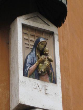 Blue Madonna & child Zoomed