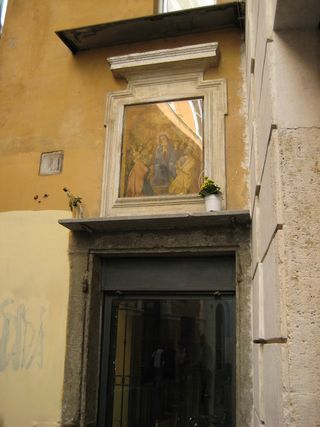Madonna over doorway