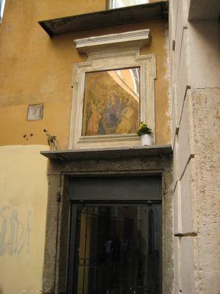 Madonna over doorway