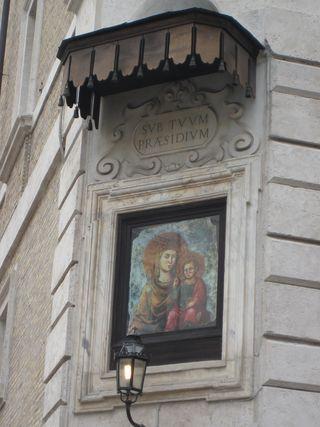 Byzantine Madonna & child with canopy