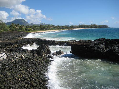 Shipwreck beach south view
